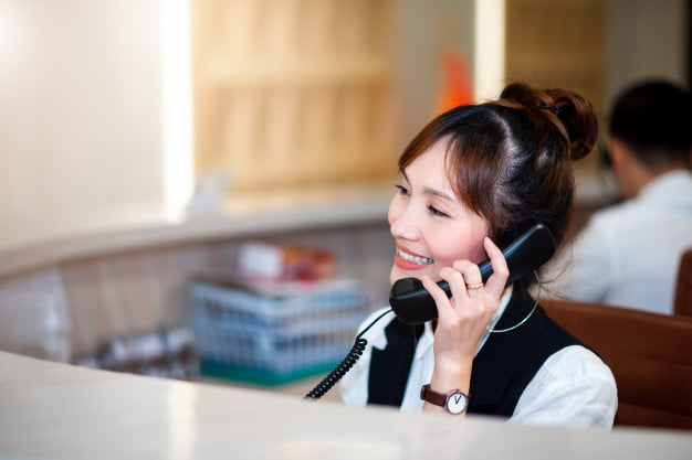 smart professional asian woman smiling face operator call center department telephone working with happy service mind telecommunication department 29393 422