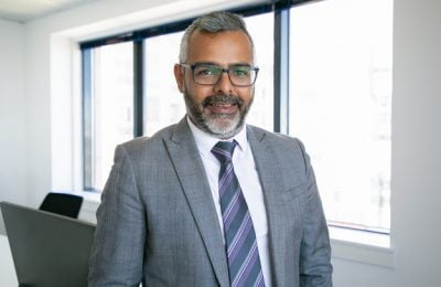 content indian ceo standing smiling portrait successful pensive bearded businessman glasses posing office room business expression management concept 74855 11642