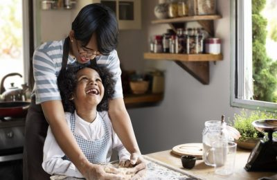 young boy learning bake with his mother 53876 104242